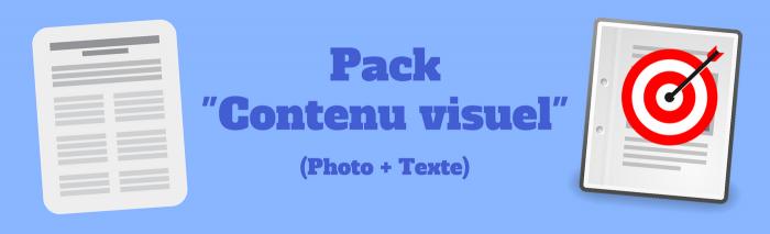 pack contenu visuel offre rédaction-business