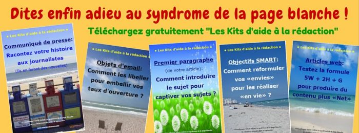 kits d'aide à la redaction ebook promotionnel