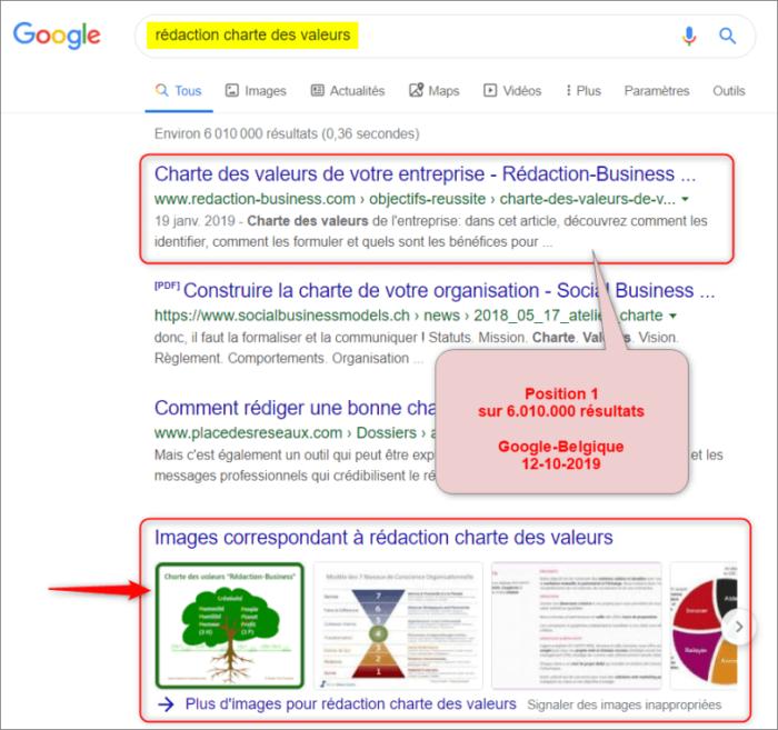 rédiger charte des valeurs - résultats Google 12-10-2019